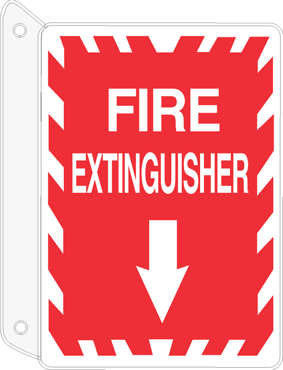2-WAY FIRE EXTINGUISHER SIGN (WITH DOWN ARROW)