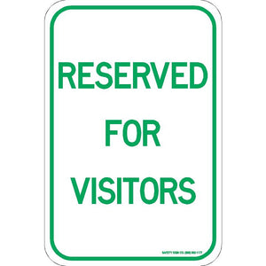 RESERVED FOR VISITORS SIGN