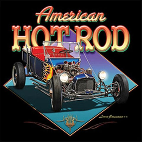 American Hot Rod Mens Short or Long Sleeve Car T Shirt 21291HD2