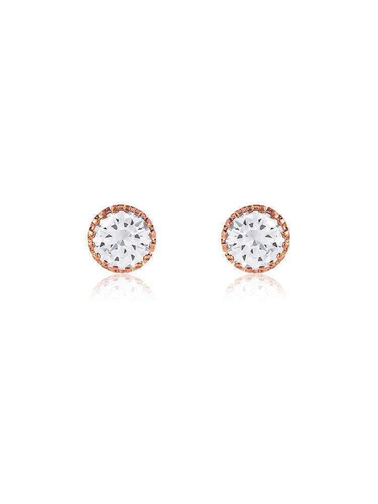 Nadia Rose Gold Earrings