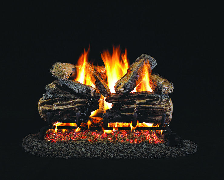Charred Split Oak Gas Log Set