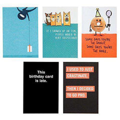 Hallmark Shoebox 5 Funny Belated Birthday Card Assortment - Free Shipping