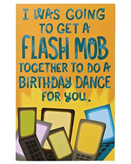 American Greetings Funny Flash Mob Birthday Card - Free Shipping