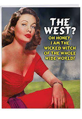 Hilarious Birthday Greeting Card 'Large Wicked Witch Of The World' - Funny birthday card - Free Shipping