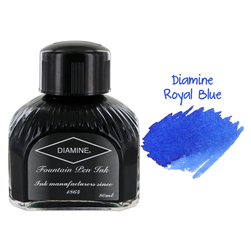 Diamine Fountain Pen Bottled Ink, 80ml - Royal Blue