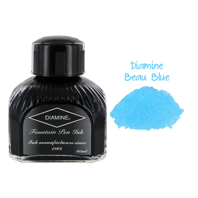 Diamine Fountain Pen Bottled Ink, 80ml - Beau Blue
