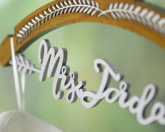 Personalized Wedding Hanger with Bride Bridesmaid Name, Custom Wedding Bridal Hanger JJ019