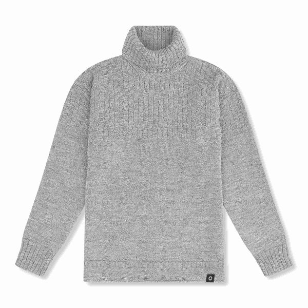 Shackleton Signature Lambswool Roll Neck Sweater | Grey