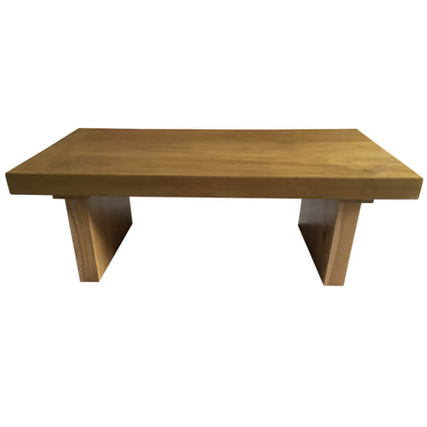 100mm thick solid oak beam table