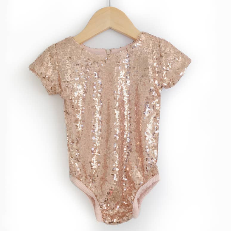 Blush Sequin Bodysuit