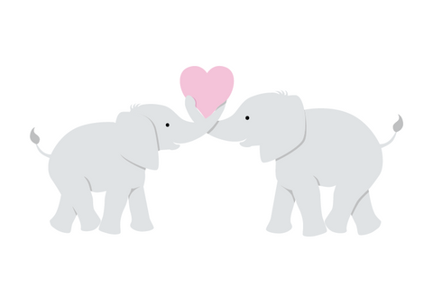 Elephant Love Paint-by-Number Mural