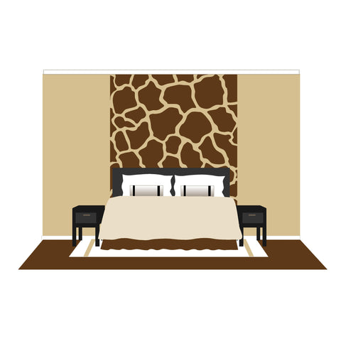 Giraffe Spots - Large Paint-by-Number Wall Mural