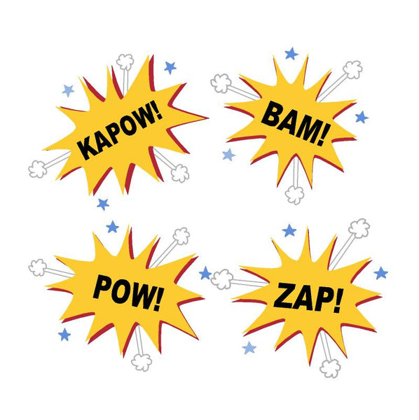 Kapow! Bam! Pow! Zap! Paint-by-Number Wall Mural