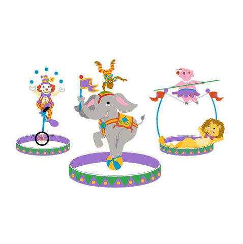 The Three Ring Circus-Large Wall Mural