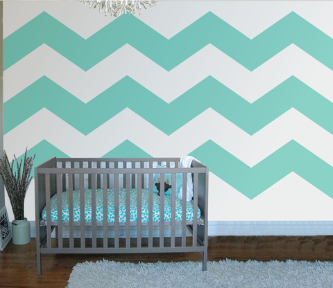 Chevron Three Paint-by-Number Wall Mural