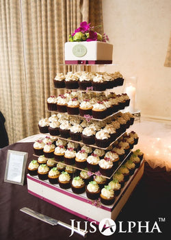 7 Tier Wedding Party Cupcake and Dessert Tower - 18 Inches Large Clear Acrylic Cake Stand