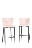 MC110B-PNK-Kayla Upholstered Bar Chair in Blush Pink