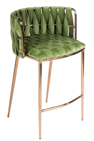 1538CS-GREEN-Milano Counter Chair in Green