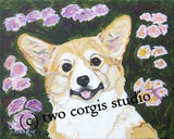 Artwork Corgi Matted Print 11 x 14 from the Painting FIONA CORGI