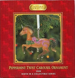 CLEARANCE..Breyer Horse 2008 PEPPERMINT TWIST Carousel Ornament 9th in Series