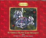 CLEARANCE..Breyer Horse 2008 SILVERBELLE Blown Glass Ornament 2nd in Series NIB