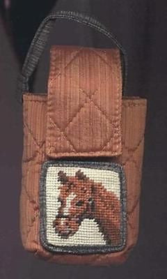 CLEARANCE...HORSE Needlepoint Wool Cellphone Case
