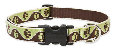"Lupine 1"" wide MUD PUPPY Adjustable Dog Collar 18-31"" RETIRED PATTERN"