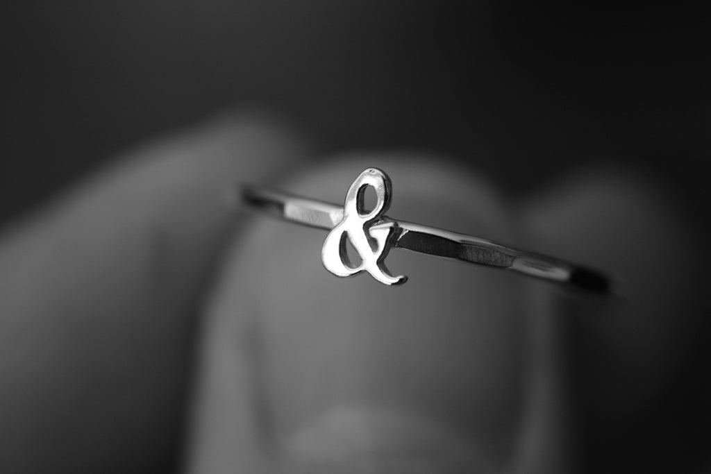 Ampersand Ring, & Ring, Stacking Ring, Sterling Silver Rings, Couples Ring, Minimalist Ring, Friendship Ring, Best Friend Ring, Gift