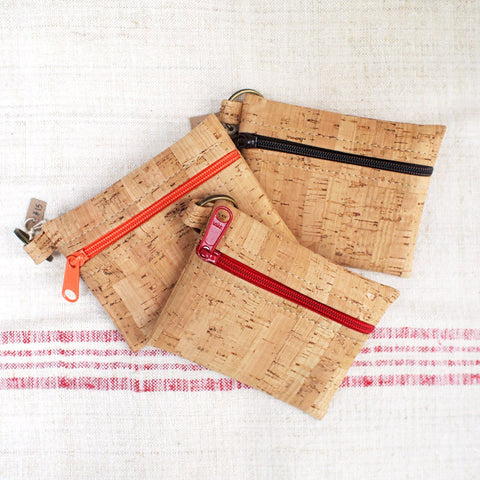 Recycled Cork Key Chain Pouch