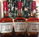 Wedding Proposal Liquor Labels - Whiskey Labels