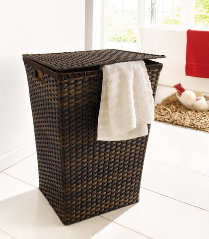 Laundry Basket, Wicker Laundry Basket, Laundry Bin, Storage Basket, Home Décor