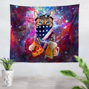 Rave Cat Tapestry