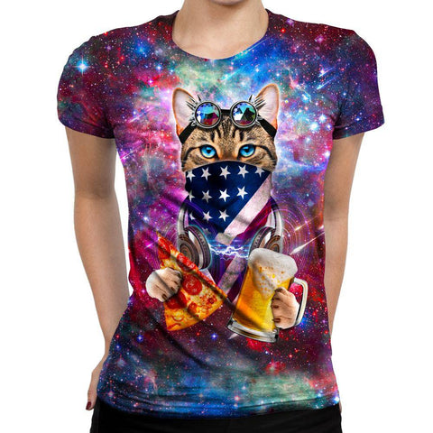 Image of Rave Cat Womens T-Shirt