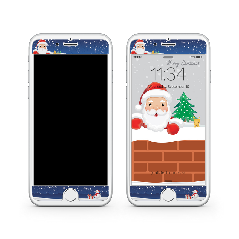 iPhone 7  Vivid Glass Screen Protector - Sneaky Santa