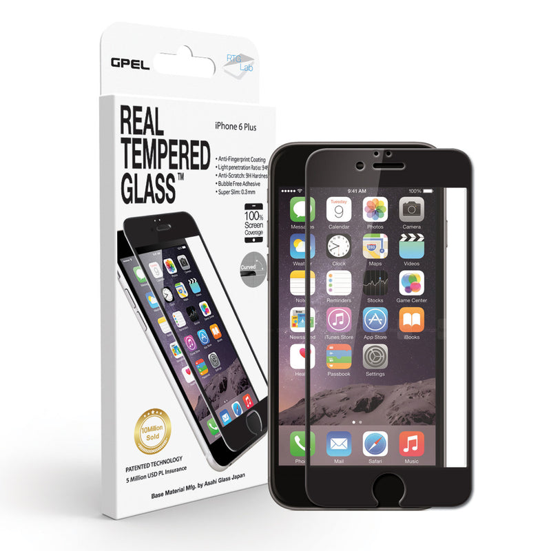 iPhone 6 | 6s Plus Edge to Edge Screen Protector - Real Tempered Glass - GPEL  - 1
