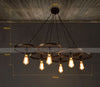 6 heads Industrial Rustic wheels   Chandelier  CY-DD-212 - ebarza