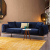 Pre-Order 60 days delivery Nirvana 3 seater Sofa-bed  NIRV003-BLUE