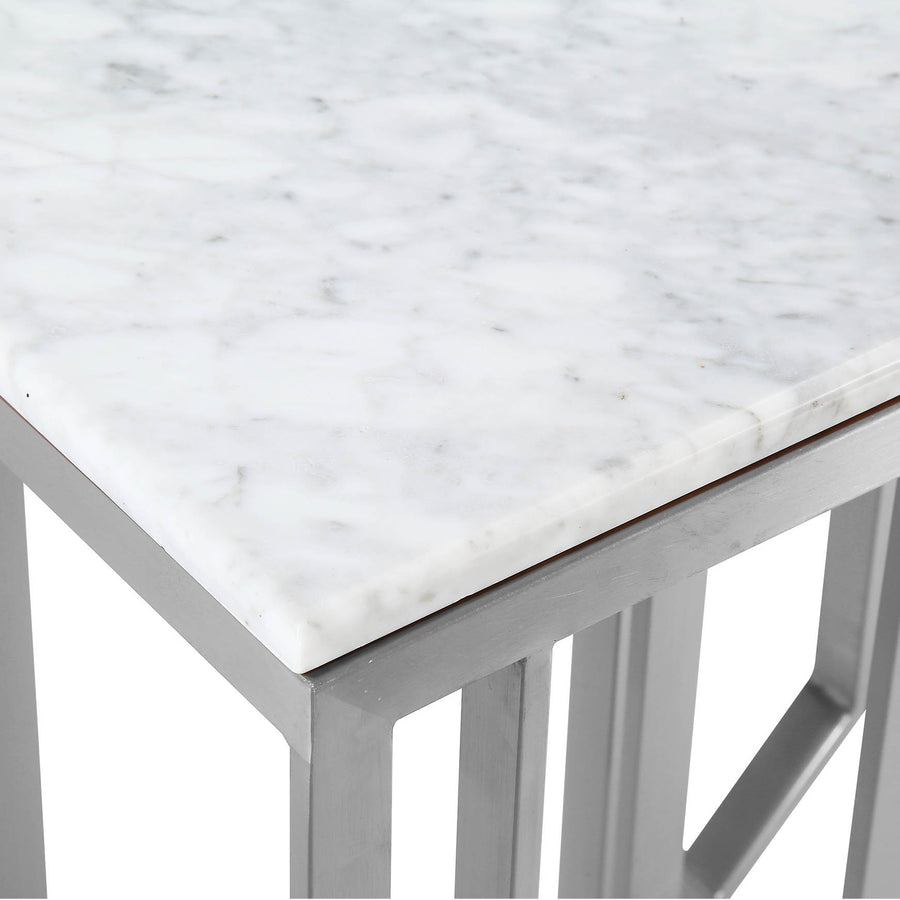 Natural Marble & Stainless Steel console Table BP8812- S-S - ebarza