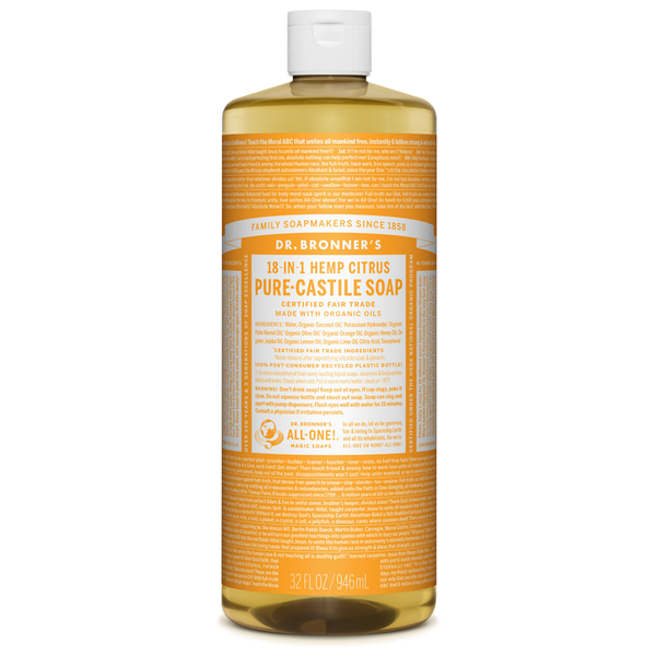 Dr. Bronner's Citrus Pure-Castile Liquid Soap - Multiple Sizes