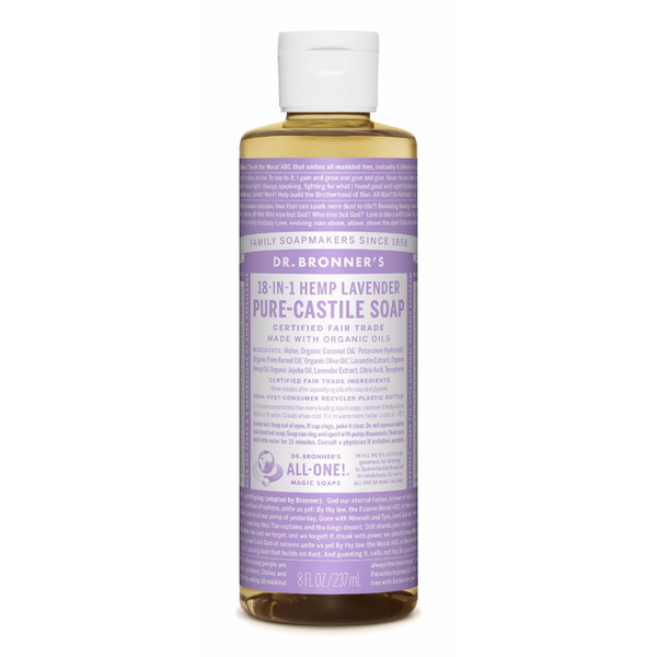 Dr. Bronner's Lavender Pure-Castile Liquid Soap - Multiple Sizes