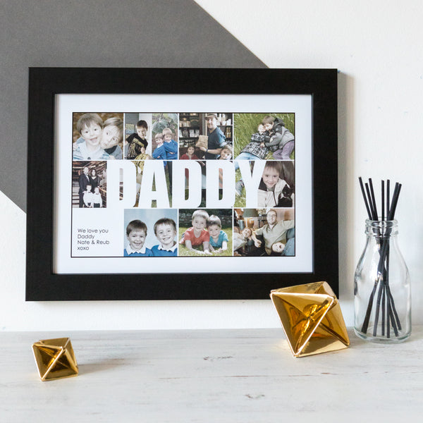 Personalised Daddy Photo Collage Print