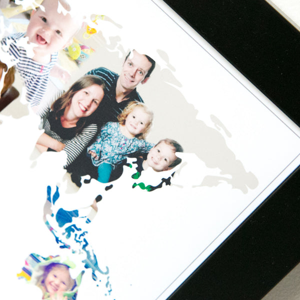Personalised 'Our World' Photograph Map