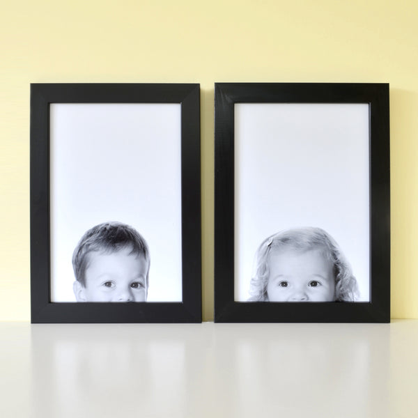 Peeping portrait personalised photograph print