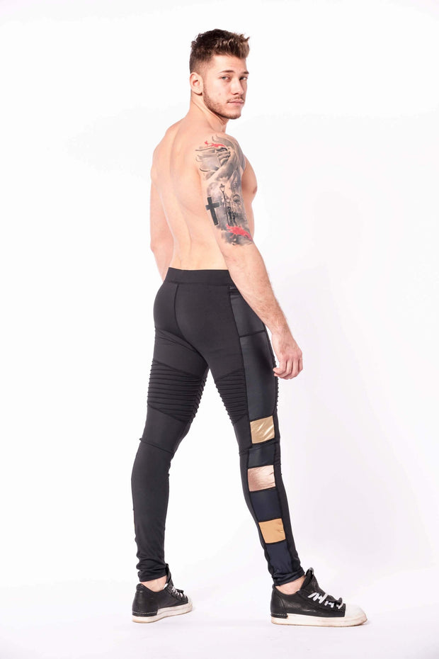 Hero Bronze warrior mens leggings shirtless three quarter