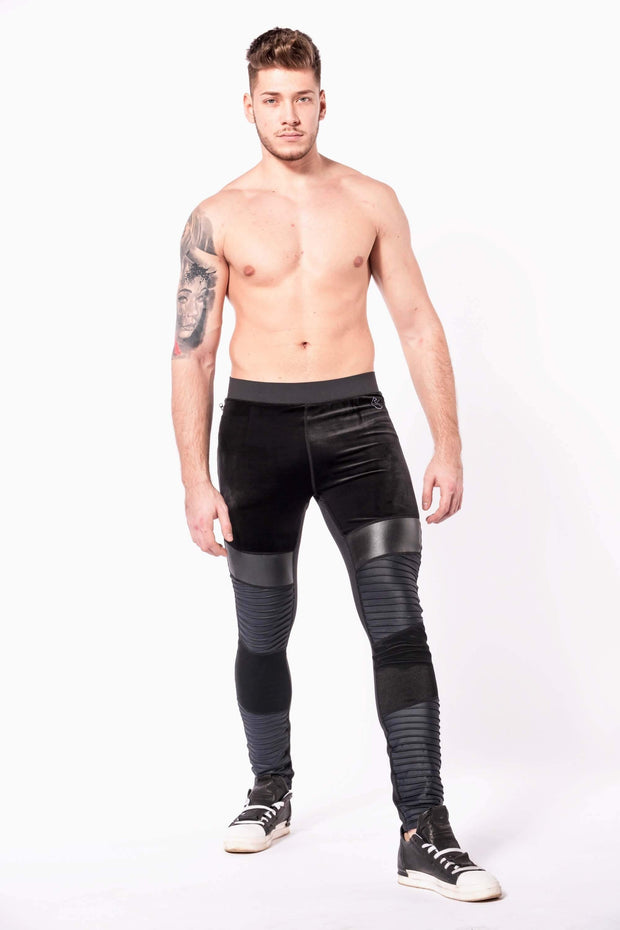 Sabre mens leggings shirtless front
