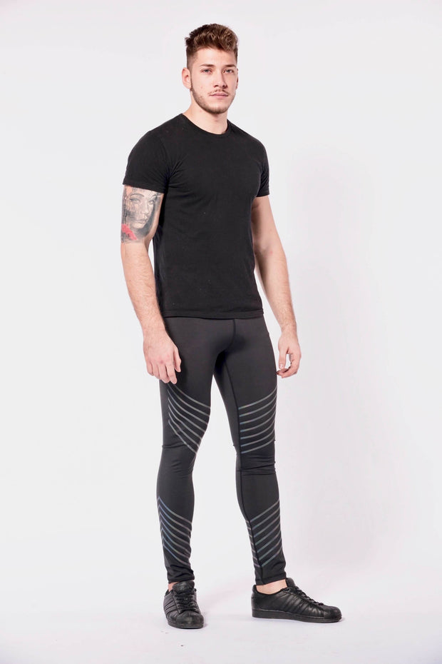Sonic Boom mens leggings front three quarter