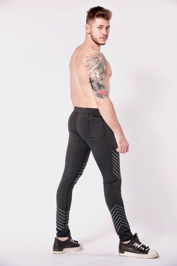 Sonic Boom mens leggings shirtless side