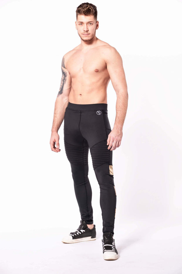 bronze warrior mens leggings shirtless front
