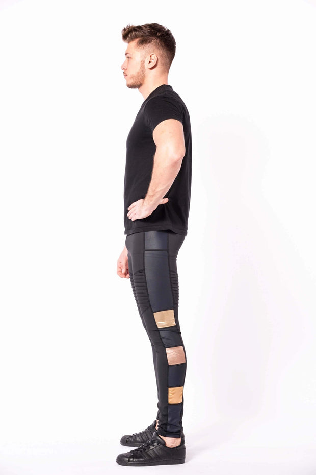 Bronze Warrior mens leggings shirtlerss side