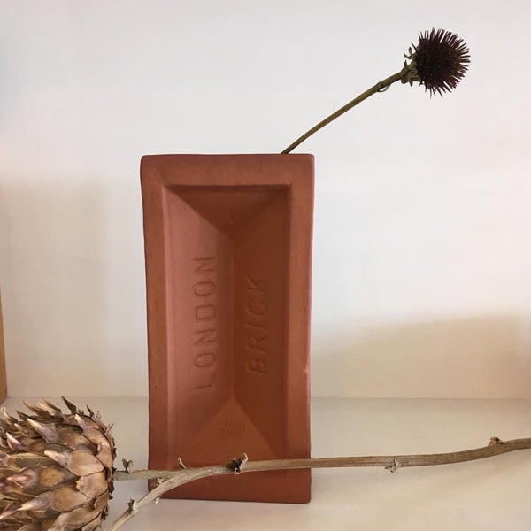 Terracotta Brick Vase - indish-design-shop-2